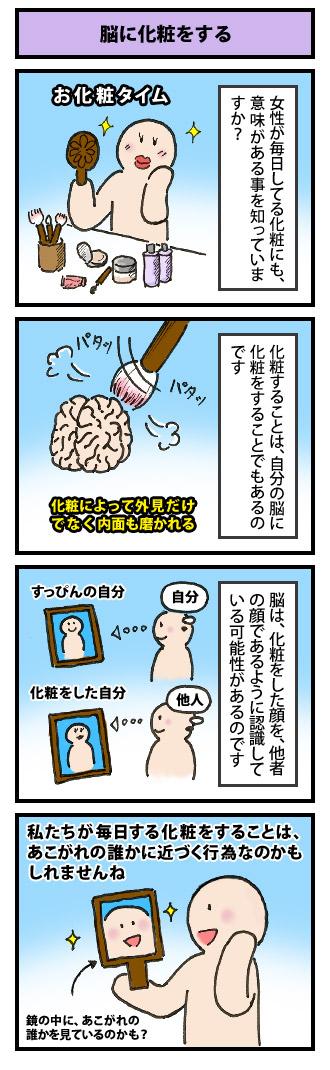 脳に化粧をする